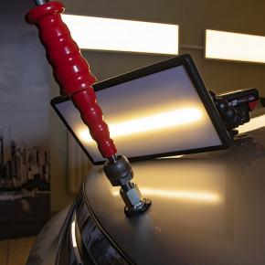 Ausbeulwerkzeug, Zughammer mit Kaltkleber Cola Fria als Dellenwerkzeug